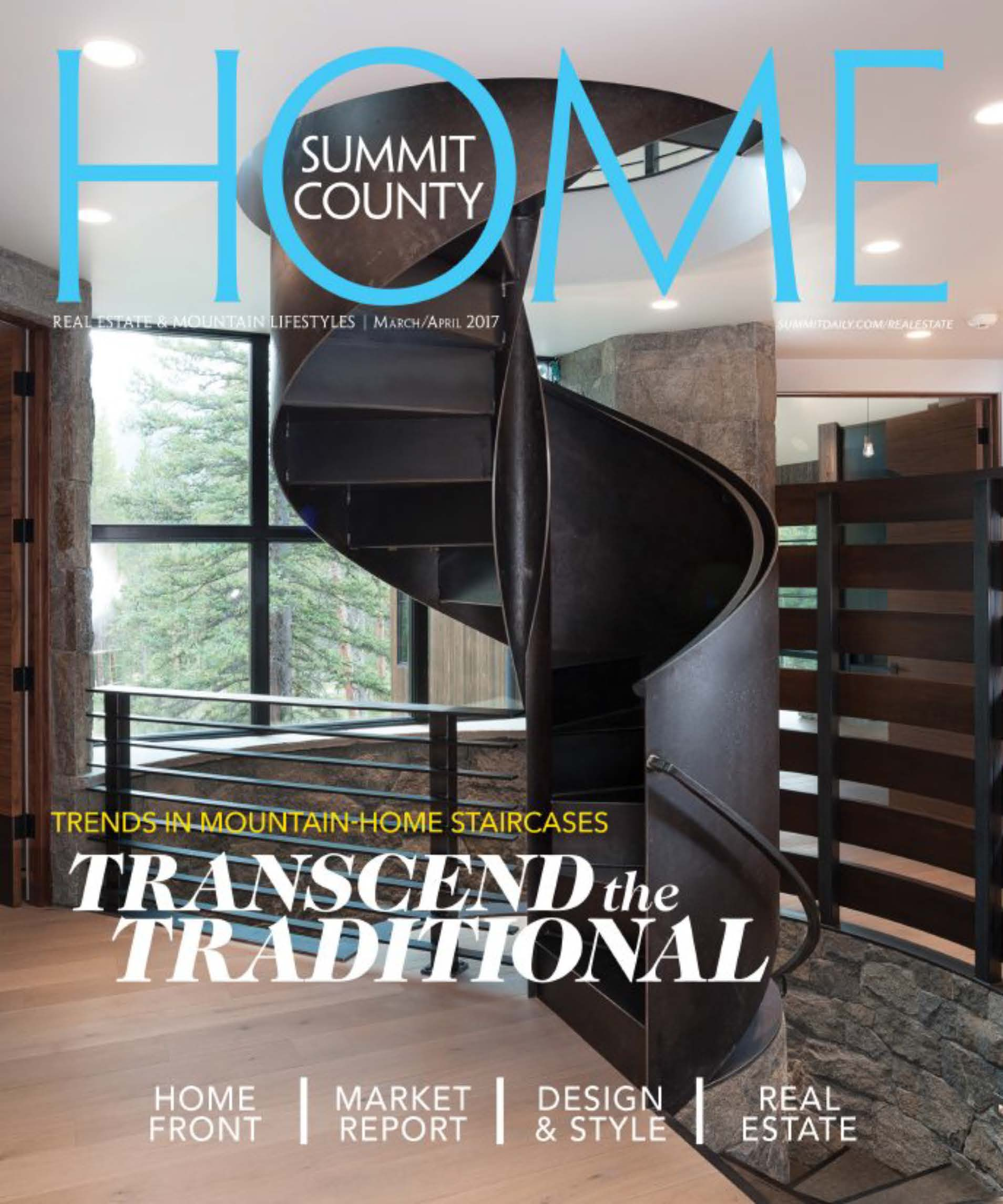 2017-04 - Summit County Home - Unsere Treppe ziert das Magazin-Cover