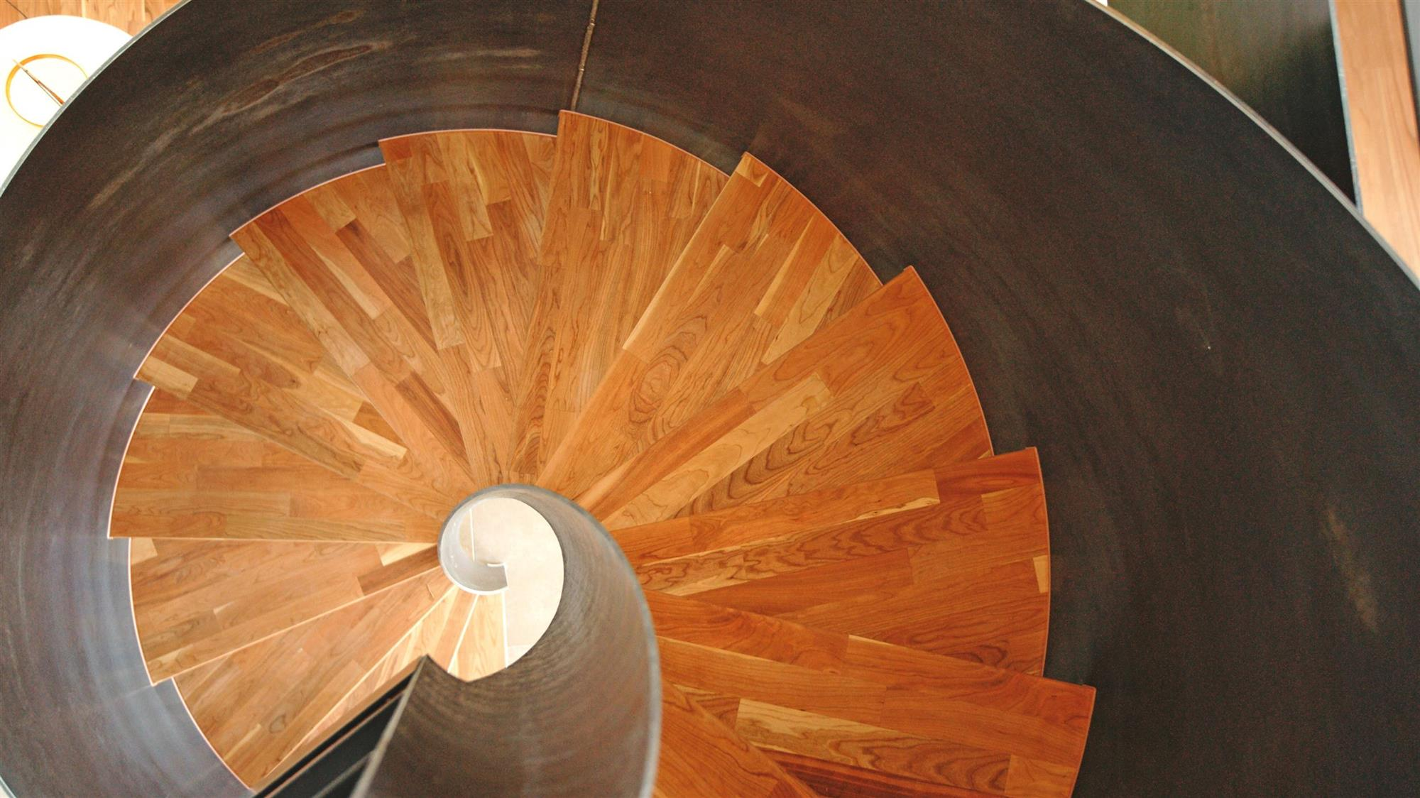 Helical staircase raw oiled
